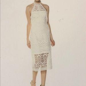 Shelli Segal Women's Mock Neck Dress